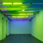 Eleonora Meoni, IT IS WHAT IT IS AND AIN'T NOTHING ELSE, 2013, lighting color effect filters and neon tubes, variable dimensions (North view)